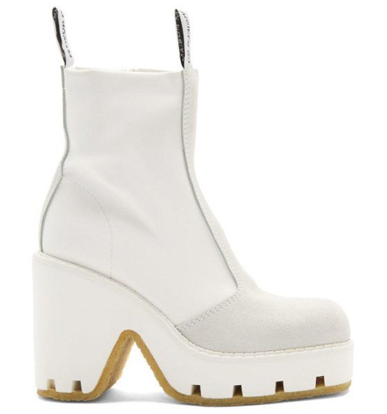 MM6 Maison Margiela white textured ankle boots in h7418 white
