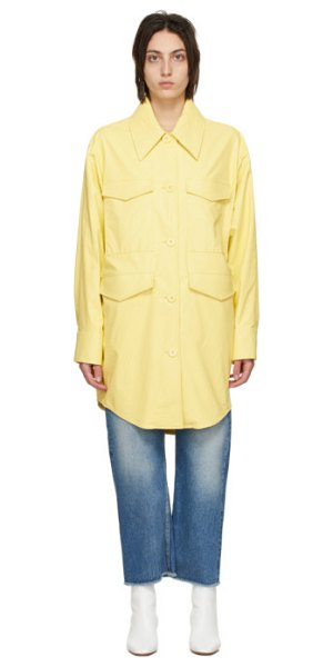 MM6 Maison Margiela yellow faux-leather jacket in 170 yellow