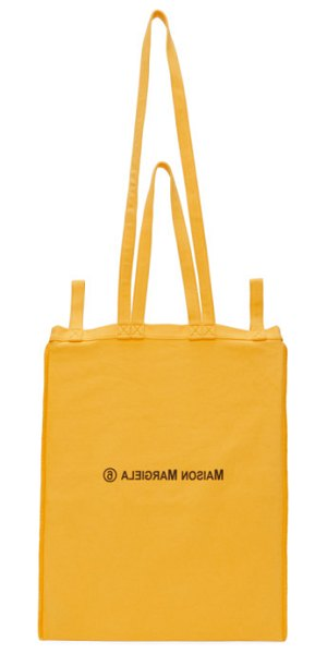 MM6 Maison Margiela yellow six handle tote in h3308 yello