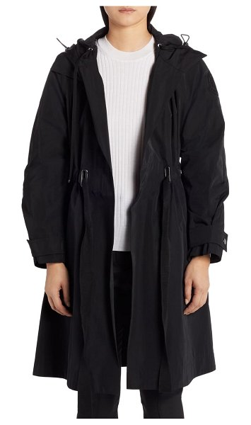 Moncler batz water resistant hooded jacket with removable down puffer vest in 999 black