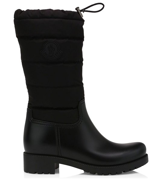 Moncler ginette drawstring quilted boots in black