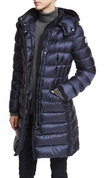 "MONCLER Hermine Hooded Puffer Jacket - Moncler ""Hermine"" long puffer jacket. Hooded collar;..."