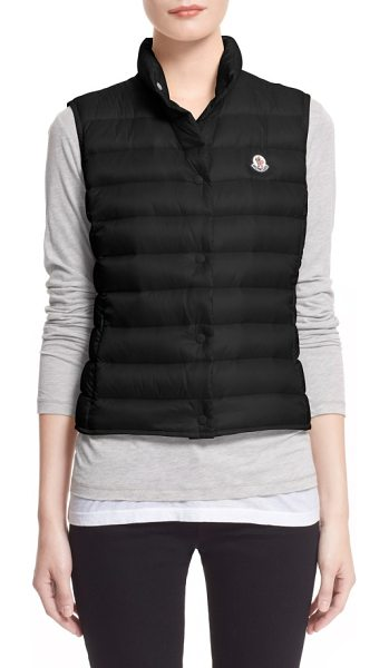 Moncler 'liane' water resistant short down vest in black