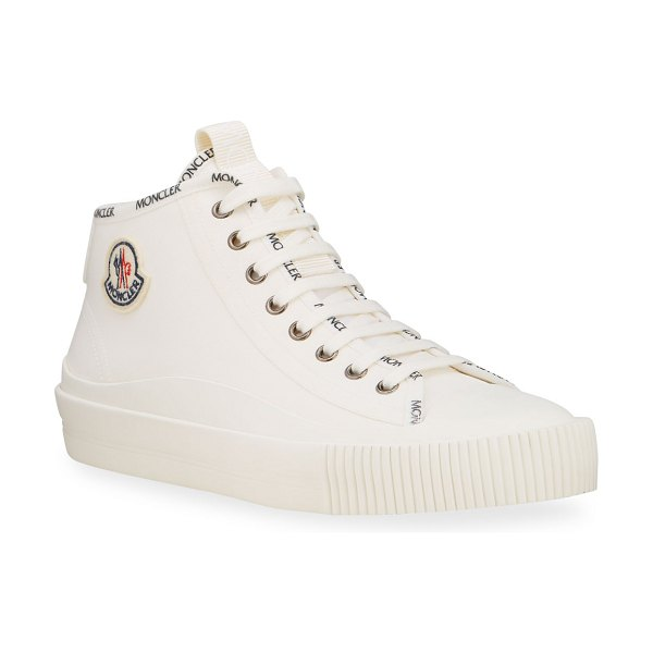 Moncler Lissex Mid-Top Logo Sneakers in white