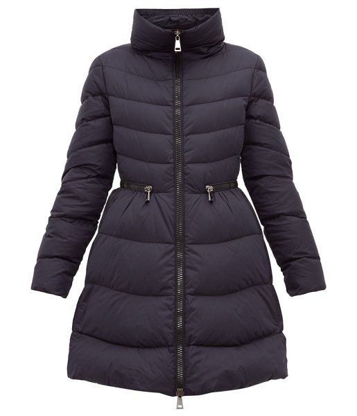 Moncler mirielon fitted waist down padded parka in navy