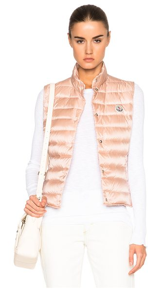 Moncler MONCLER Liane Polyamide Vest in neutrals,pink - Self: 100% polyamide - Filling: 90% down 10% feather. ...