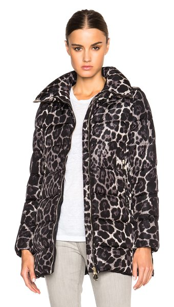 MONCLER MONCLER Torcelle Leopard Print Coat - Self: 100% polyamide - Filling: 90% down 10% feather.  Made...