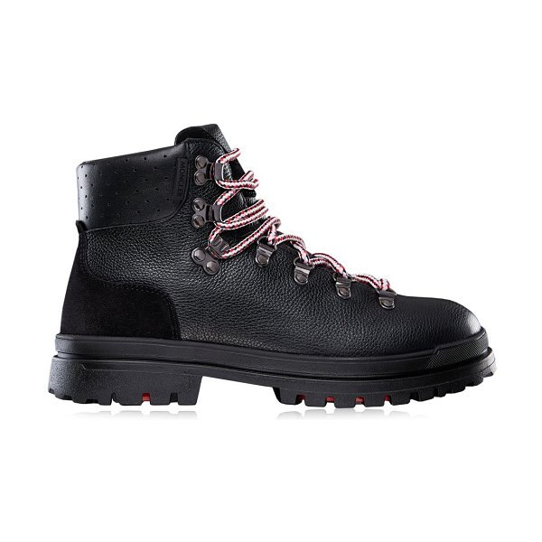 Moncler trekset leather hiking boots in black