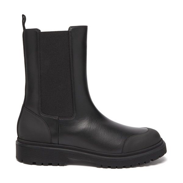 Moncler patty chunky-sole leather chelsea boots in black