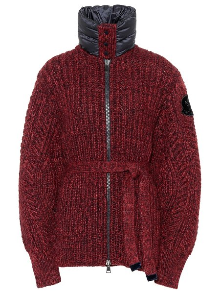 Moncler wool and alpaca-blend cardigan in red