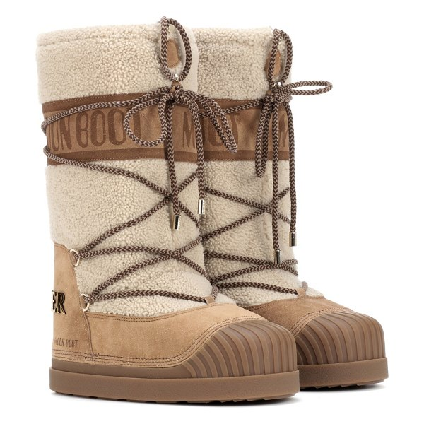 Moncler x moon boot® ankle boots in brown