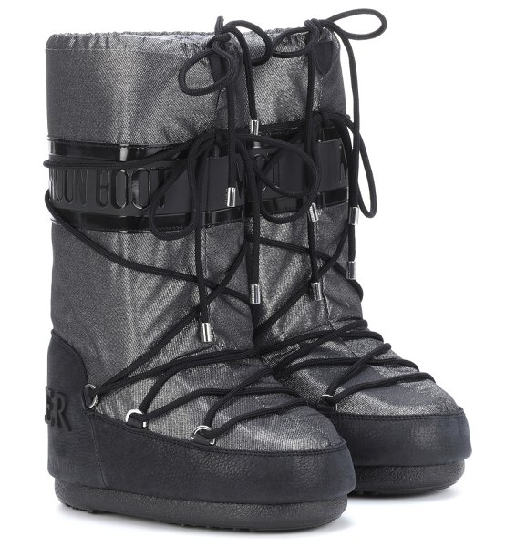 Moncler x moon boot® ankle boots in silver