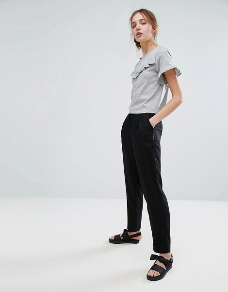 "MONKI Peg Leg Pants - """"Pants by Monki, Lightweight woven fabric, Mid-rise..."