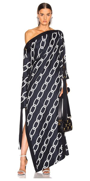 Monse chain print caftan dress in navy & ivory - Monse Chain Print Caftan Dress in Blue. - size 4 (also...