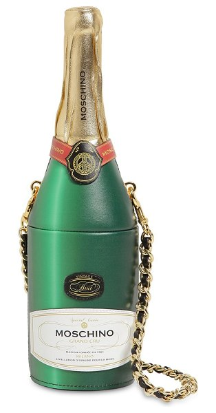 Moschino Champagne leather bag in fantasy green
