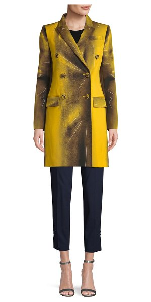 Moschino Double-Breasted Wool-Blend Coat in yellow