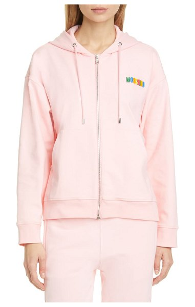 Moschino magnet logo hoodie in 0242 pink