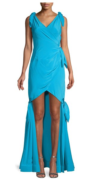 Moschino Mermaid Silk Gown in light blue
