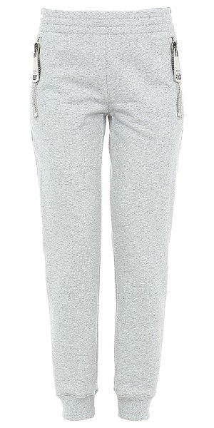 Moschino oversized zip detail fitted sweatpants in grey