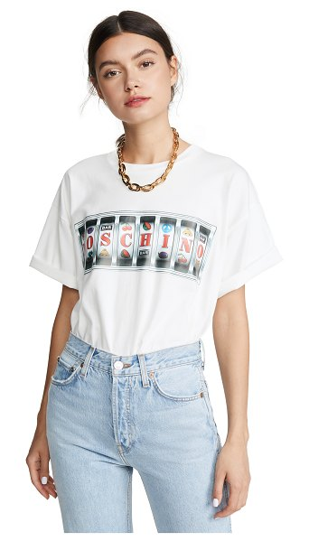 Moschino slot machine tee in fantasy print white