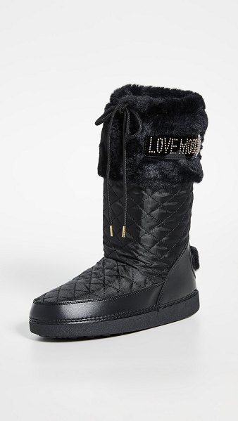 Moschino snow boots in nero