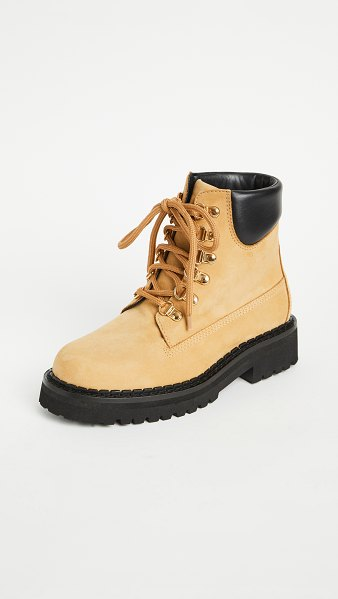 Moschino w. ankle hiking boots in cammello