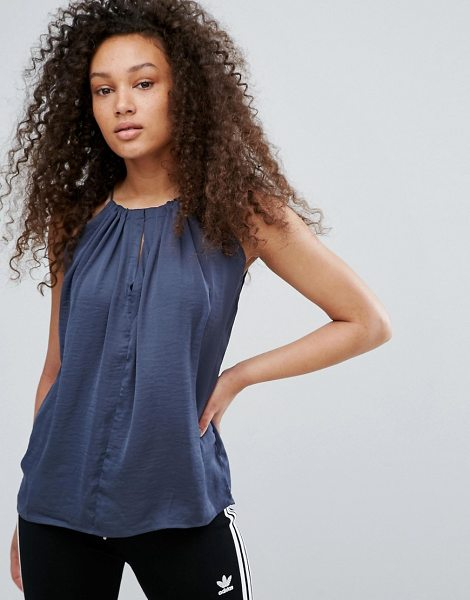 "Moss Copenhagen Cami Top in blue - """"Top by Moss Copenhagen, Lightweight woven fabric, Crew..."