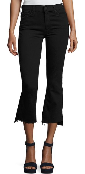 MOTHER Insider Crop Step Fray Jeans in not guilty