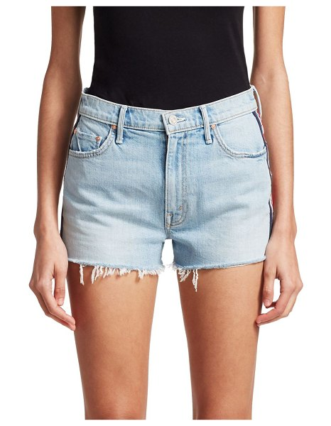 MOTHER Easy Does It Denim Shorts in thanks again racer