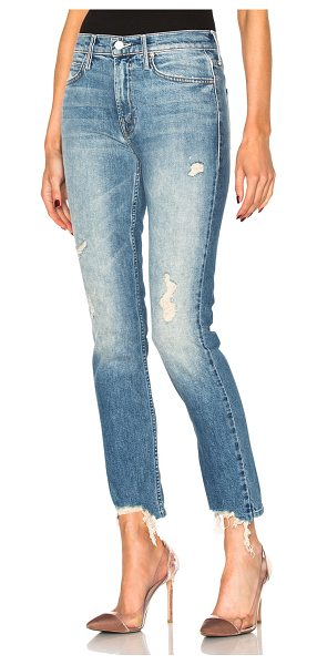 MOTHER Flirt Fray Skinny in blue - 98% cotton 2% elastan.  Made in USA.  Machine wash. ...