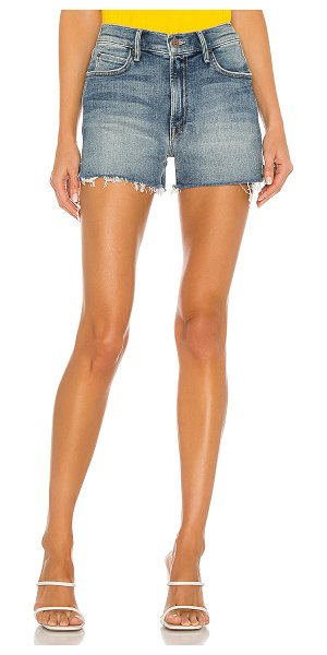 MOTHER high waisted rascal slit fray short. - size 23 (also in night on a shiny white vespa