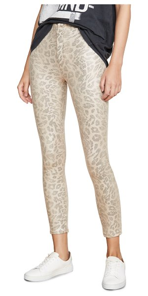 MOTHER high waisted seamless looker ankle jeans in running with a sweet talker