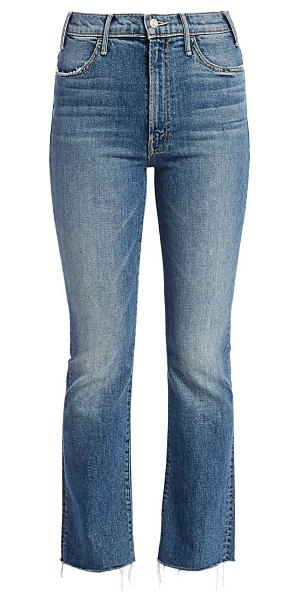 MOTHER the hustler high-rise crop ankle fray jeans in we all scream