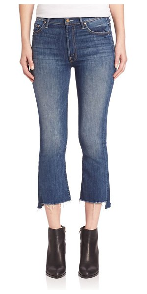 MOTHER the insider high-rise crop step fray hem jeans in not rough enough