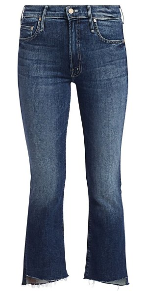 MOTHER insider high-rise crop fray jeans in love on the edge
