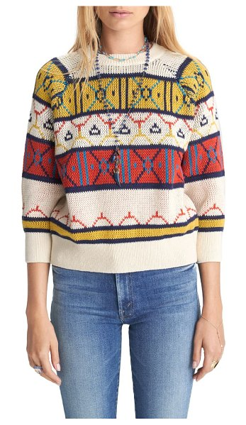 MOTHER patterned stripe cotton sweater in remember me