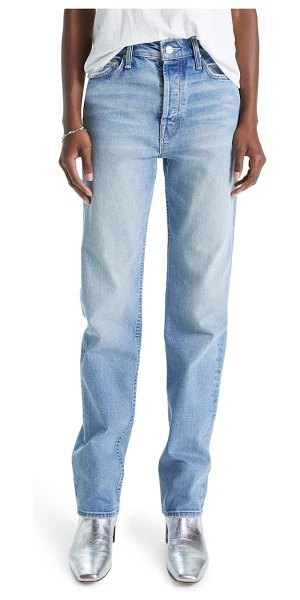 MOTHER rider skimp high waist straight leg jeans in give it up