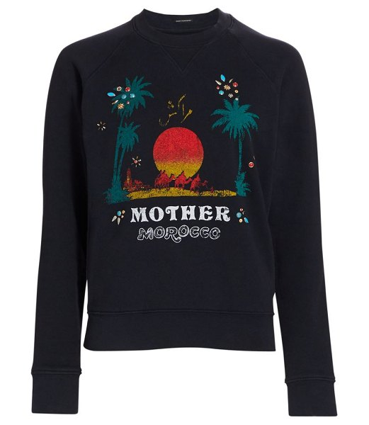 MOTHER square morocco sweatshirt in mother morocco