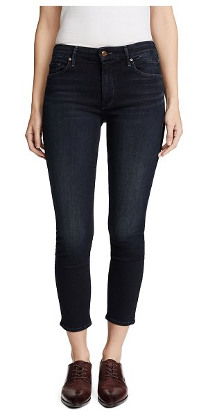 MOTHER the cropped looker skinny jeans in coffee tea or me