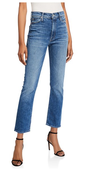 MOTHER The Dazzler Cropped Straight-Leg Jeans in cowboys dont cry