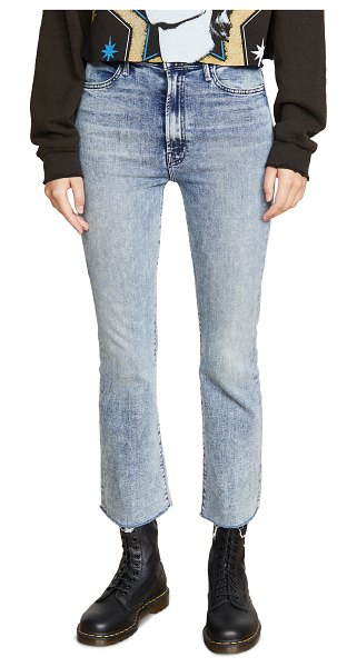 MOTHER the hustler ankle fray jeans in shaking things up
