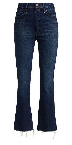 MOTHER the hustler mid-rise ankle fray jeans in bombay lost and found