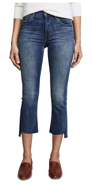 MOTHER the insider crop step fray jeans in not rough enough
