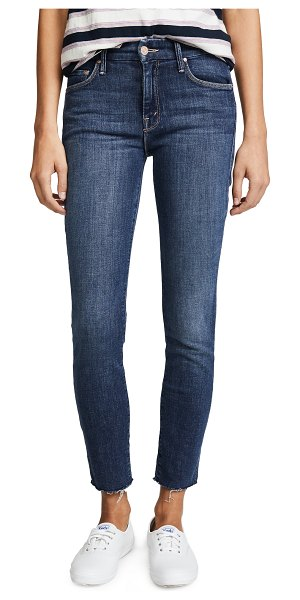 MOTHER the looker ankle fray jeans in girl crush