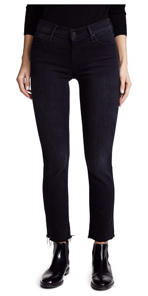 MOTHER the rascal ankle snippet jeans in blackbird