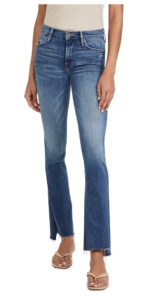 MOTHER the runaway step fray jeans in leaps and bounds
