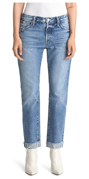 MOTHER the scrapper high waist frayed cuff ankle jeans in take me higher
