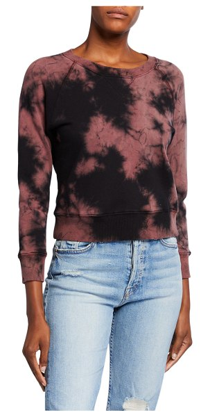 MOTHER The Shrunken Square Tie-Dye Sweatshirt in go to sleep