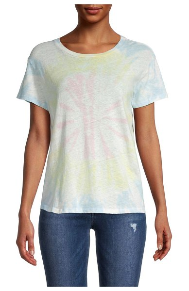 MOTHER The Sinful Tie-Dye T-Shirt in pink multi