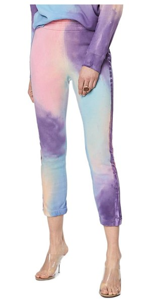 MOTHER the springy lounger tie dye ankle pants in lets get metaphysical